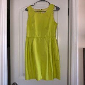 J. Crew Dresses - J. Crew yellow green textured dress